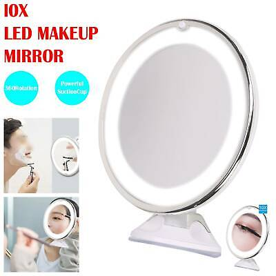 £11.99 • Buy LED 10x Magnifying Make Up Cosmetic Mirror Vanity With Light Illuminated Small