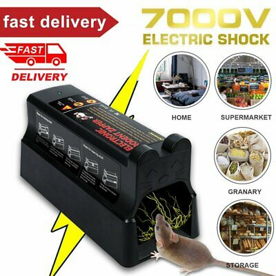 Electronic Mouse Trap Mice Rat Killer Pest Control Electric Zapper Rodent UK • 27.99£