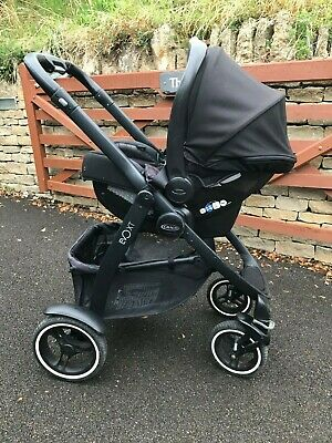 Graco Evo Xt Travel System PLUS EXTRA'S! Black/red Gender Neutral Colours, Vgc • 135£