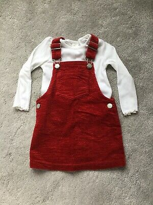 Next Girls Dress And Top, Size 12-18 Months, Red • 3£