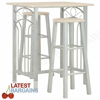 AU182.04 • Buy Breakfast Bar Dining Table & Chair Setting Stools High Kitchen Furniture Set