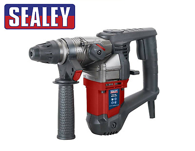 Sealey Sdsplus26 900w Rotary Sds Plus Hammer Drill 230v & Bits Chisels In Case • 64.95£