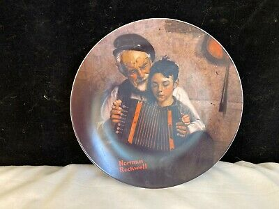 $ CDN6.28 • Buy Norman Rockwell Collector's Plate The Music Maker 1981 Limited Edition