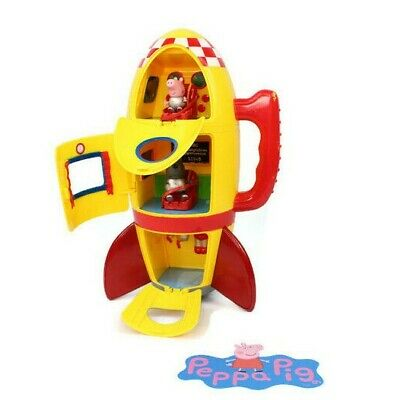 Peppa Pig Space Rocket/ Spaceship Toy Play Set With Sound + 2 Figures & Extras • 13.99£