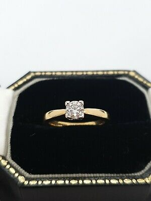 18ct Yellow Gold Diamond Engagement Ring 41 Points • 475£
