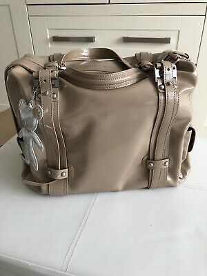Il Tutto Nico Nude / Sand Patent Luxury Baby Changing Bag New Accessories Bag • 62.50£