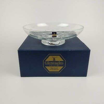 £17.99 • Buy Gleneagles Crystal Glass Footed Bowl - Aria Pattern (Boxed) - Scotland Scottish