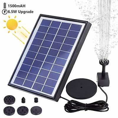AISITIN Solar Fountain Pump 6.5W Panel With Battery Backup Solar Water Pump • 34.99£