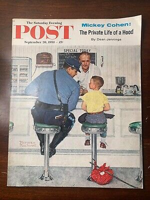 $ CDN152.59 • Buy Saturday Evening Post September 20, 1958 Norman Rockwell Cop W/runaway Boy Vtg