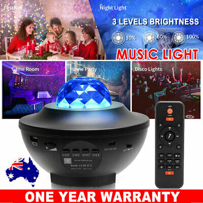 AU37.95 • Buy LED Night Light Projector Galaxy Starry Ocean Star Sky Baby Room Party Lamp Gift