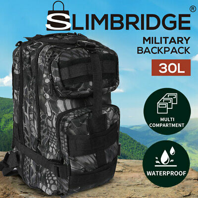 AU25.99 • Buy 30L Military Tactical Backpack Rucksack Hiking Camping Outdoor Trekking Army Bag