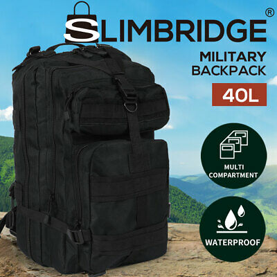 AU33.99 • Buy 40L Military Tactical Backpack Rucksack Hiking Camping Outdoor Trekking Army Bag