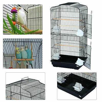 £30.45 • Buy Large Metal Bird Cage White For Small Birds Canary Cockatiel Budgie Parakeet New