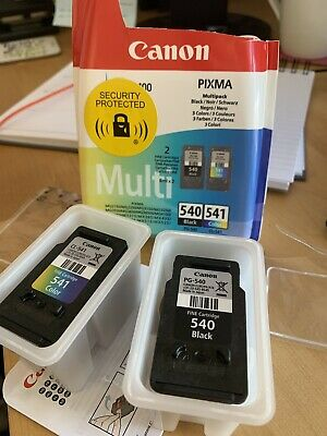 Canon PG 540 CL 541 Black & Colour Canon PIXMA Ink Cartridges Unused From New • 19£