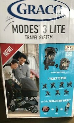 Graco Modes 3 Lite Travel System With Snug Ride Car Seat Navy Brand New Boxed • 149£