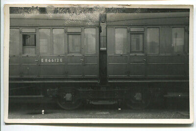 Vintage Railway PHOTO - LNER Carriage/coach E866123E  Ref 23830 • 5£