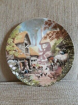 THE FARMYARD Plate By Robert Hersey Coalport China Tale Of A Country Village • 1.50£