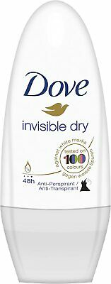 Dove Invisible Dry Roll-On Deodorant Antiperspirant Pack Of 3 X 50 Ml • 7.14£