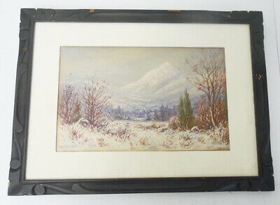 $399.99 • Buy Listed MA Artist William Paskell Watercolor White Mountains Painting Framed