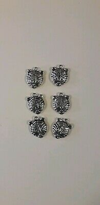 Tiger Face Charms X 6 • 1.99£