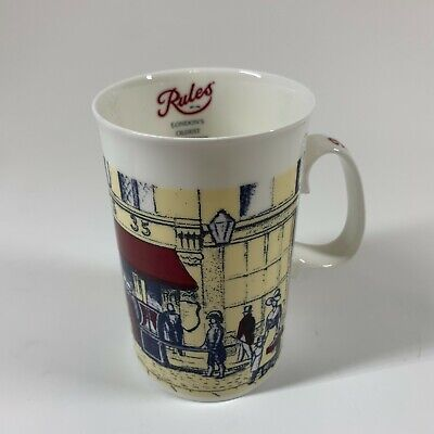 Illustrated Fine Bone China Coffee Mug Cup Rules London's Oldest Restaurant  • 13.04£