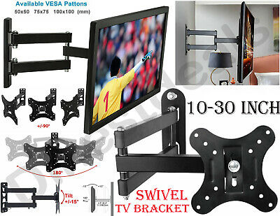 TV Wall Mount Bracket Tilt Swivel 10 14 16 18 20 21 23 24 26 30 LCD LED Monitor • 8.99£