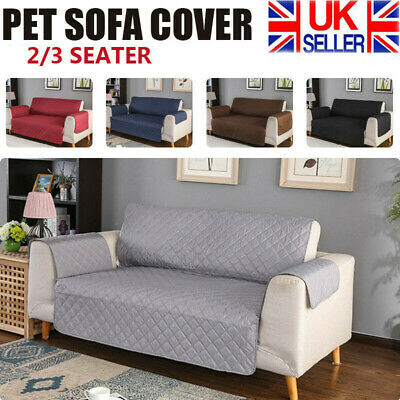 £10.59 • Buy Quilted Sofa Cover Waterproof Furniture Pet Protector Throw Sofa Slip Covers