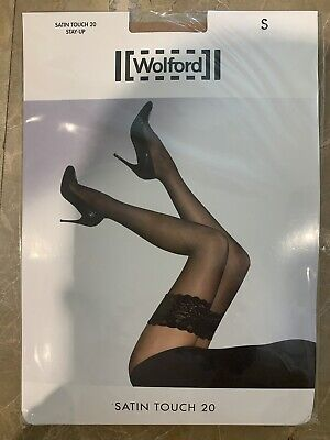 Wolford Satin Touch 20 Stay-Up, Colour Gobi,size Small • 18£