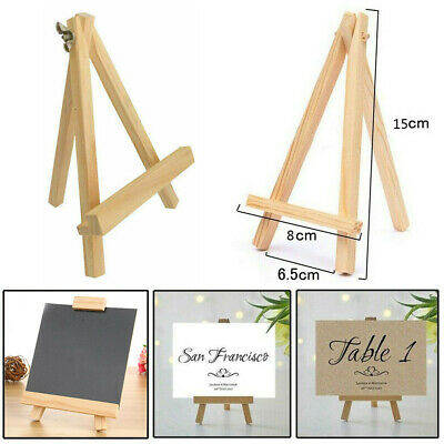5pc Mini Wooden Easel Table Display Small Stand Wedding Picture Name Card Holder • 7.70£