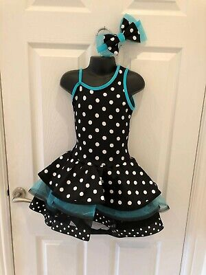 Curtain Call Costumes Black And Turquoise Tutu With Costume Bag Child Small NEW • 28£