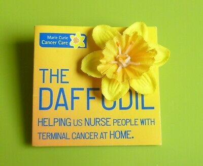 Marie Curie Yellow Daffodil Flower Stud Pin Badge Charity • 1.50£