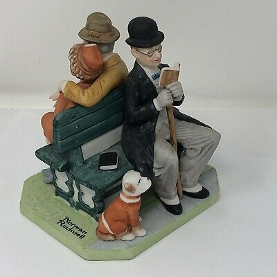 $ CDN23.68 • Buy *Norman Rockwell Porcelain Figurines, Series II  Park Bench  1980 Danbury Mint