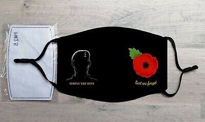 Royal Corps Signals Remembrance Poppy Face Mask • 10.99£