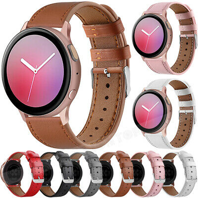 AU16.99 • Buy 20mm Genuine Leather Wrist Watch Band Strap For Samsung Galaxy Active 2 40/44mm