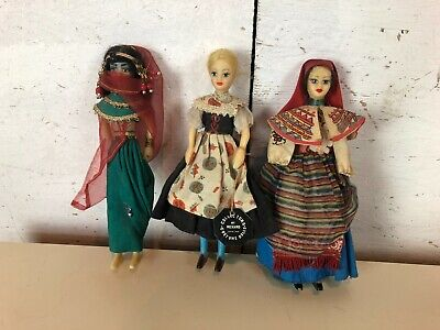 Vintage Rexard Collectors Costume Dolls X3 Inc Egyptian • 9.99£