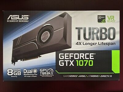 AU600 • Buy ASUS NVIDIA GeForce GTX 1070 Turbo 8GB GDDR5 PCI Express Graphics Card