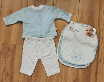 Newborn Baby Boy, Top And Jacket, Matching Bottoms, Blue, Tiny Dee, 8-12lbs,... • 0.99£