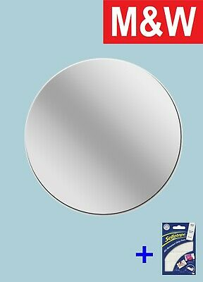New Round Plastic Mirror Wall Tiles Anti-shatter Safety Mirror Perspex Sheet • 4.99£
