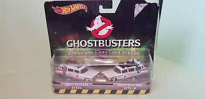 Never Removed From Card - Hot Wheels Classic Ghost Busters ECTO-1 & ECTO-1A • 17.99£