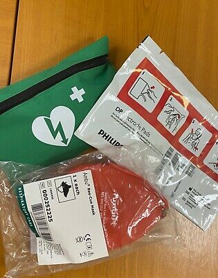 First Aid Set & DP AED Pad & Ambu Red Mask Bundle NEW • 0.99£