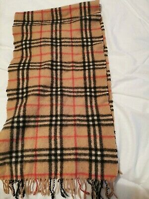 Vintage Burberry/Burberrys Scarf Cashmere 50%/Wool 50% Made In England • 15£