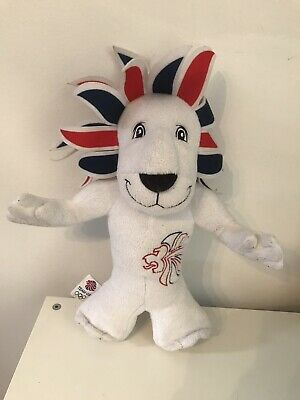 London 2012 Olympic Games Mascot Plushie - Lion Team GB Union Jack • 0.99£