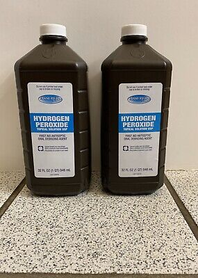 AU17.37 • Buy 2 DG Hydrogen Peroxide Topical Solution 3% First Aid Antiseptic 32 Oz NEW SEALED