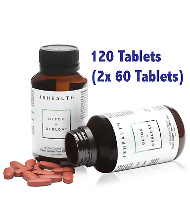 AU84.95 • Buy JS HEALTH DETOX + DEBLOAT  - 120 TABLETS (2x 60 TABLETS) JSHEALTH