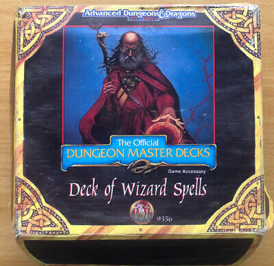 AU134.96 • Buy Official 1993 Deck Of Wizard Spell Cards Dungeons & Dragons Master Deck