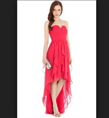 New Coast Size 16 Yessica Dress With High Low Hem Prom Ball Gown Party Pink❤️BN • 85.99£