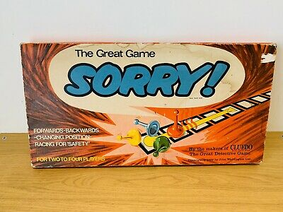 Vintage Waddington's SORRY! (1969) Family Board Game UK [Complete] • 14.99£