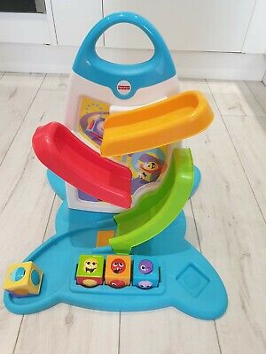 Fisher Price Electronic Baby Toy Roller Blocks Play Wall • 5£