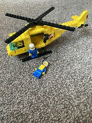 Rescue Helicopter LEGO Vehicle 6697 100% Complete Instructions Vintage 1985 • 10£