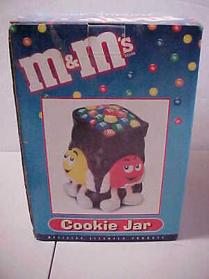 $35.77 • Buy M&M Large Cookie Jar Chocolate Color New In Box Mfg 2002